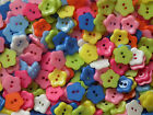 10, 50 or 200 Small, 12mm, Flower Buttons in Assorted Colours (B24)