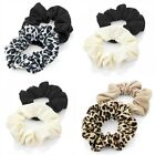 2 Pack Patterned Jersey Hair Scrunchies Bobbles Hair Bands Elastics Accessories
