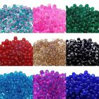 Crackle Glass Round Beads 6mm 8mm - Lots Of Colours x 50 Beads