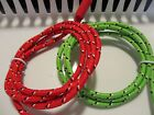 2-pack Braided Colorful Usb Cable Charger Sync Data Cord For Iphone 5 5s 5c Lot