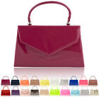 Top Handle Patent Women Clutch Bag Bridal Designer Ladies Evening Party Handbags