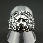 WOW Alliance Gryffindor Animal Lion's Head Silver Ring Stainless Steel Harley