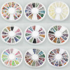 Hot Nail Art Rhinestones Glitters Acrylic Tips Decoration Manicure Wheel HYSG