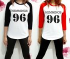Luke Hemmings 96 5sos 5 SOS Sexy Band Shirt Raglan Women 3/4 Long Sleeve TShirt