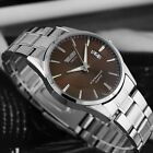 Fashion Luxury Stainless Steel Band Date Analog Quartz Sport Mens Wrist Watch