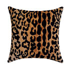 Velvet Leopard Throw Pillow, Braemore Jamil Natural Animal Print Accent Pillow