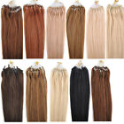 "22"" 100s Long Loop Micro Ring Bead Link 100% Real Remy Human Hair Extensions"