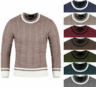 Mens Premium Twisted Crewneck Knit Sweater Jumper Top D-0019-S/M KOREA