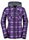 Volcom CIRCLE FLANNEL Hoodie JACKET Purple H0151608 AUTHENTIC Womens NEW 2016