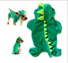 XS-XL Dinosaur Style Dog Pet Halloween Costume Pet Dogs Coat Outfits Size Green