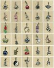 Clip on charm- 30 to choose from- Clip on to bracelets, phone charms etc (C)