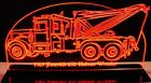 "Wrecker Tow Truck Towing  Edge Lit Awesome 21"" Lighted Sign LED Plaque USA Made"