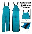 Mens Waterproof Overall Bib & Brace Mechanic Plumber Trousers Workwear Dungarees