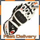 Oxford RP-1 Summer Leather Motorcycle Motorbike Sports Gloves - White/Black
