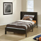 Twin Platform Bed w/ Headboard No Box Spring Needed Bed Frame Kids Teens Bedroom