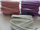 1 Metre 7mm Soft Strong Glitter Foldover Elastic for headbands Hair Accessories