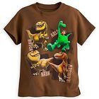 DISNEY STORE THE GOOD DINOSAUR CHARACTERS TEE FOR BOYS ARLO BUTCH NASH & RAMSEY
