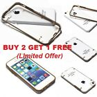 Gold Transparent Clear Hard Back Case Cover for Apple iPhone 5C with Protector