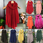 Women Girls Autumn Winter Solid Large Long Cotton Blend Casual Scarf Wraps Shawl
