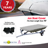 HEAVY DUTY 100% SOLUTION DYED POLYESTER JON BOAT COVER LENGTH 10'