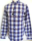 BEN SHERMAN Men's Long Sleeve Checked Shirt Cotton Blue Size: Medium