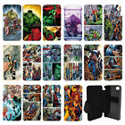 DC Marvel superhero comic book Flip Wallet cover case for Apple iPhone No.21