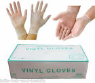 Disposable Clear Vinyl Powder & LATEX FREE Non Sterile Gloves 100 200 300 *CHEAP