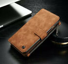 For Samsung Galaxy Note 5/S6 Edge Plus Genuine Leather Case Cover Zipper Wallet