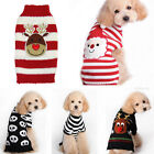 Pet Christmas Costume Sweater Puppy Dog Clothes Striped knitwear Coat Apparel