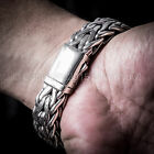 Rope Weave Bracelet 16mm - Outstanding Quality - Solid 925 Sterling Silver.