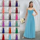 Spaghetti Strap Bridesmaid Wedding Evening Formal Party Ball Gown Prom Dresses