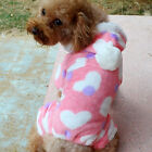Cute Fleece Pet Puppy Dog Cat Clothes Hoodie Coat Jumpsuit Costume Apparel
