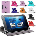 """UNIVERSAL FIT TABLET 7"""" 7 INCH FLIP COVER CASE STAND ROTATING 360 DEGREE"""
