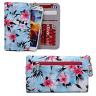 Hawaiian Floral Wristlet Wallet w/ Phone Compartment for Huawei, LG, Micromax
