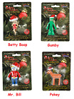 Christmas Holiday Bendable Ornament Gumby Pokey Betty Boop Mr Bill Felix $6.5 USD