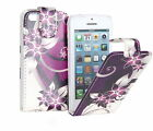 Wallet PU Leather Flower Print Vertical Flip Case Cover for Various Apple iPhone