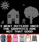 Funny T-Shirts Graphics outside computer nerd gamer presents Aussie store sizes
