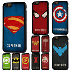 Superhero Logo Iron Man Rubber Phone Case Cover For iPhone 5/5s 6/6s 7 8 X Plus