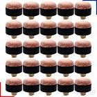 Snooker Pool Billiard Screw on Cue Tips 10, 11, 12 or 13mm High Quality Leather