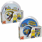 Melamine Set Plate Bowl & Cup Set - Despicable Me Minions WHITE or BLUE