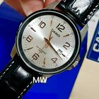 Casio MTP-1344AL-7A2 Collection Silver Dial Leather Watch With Date Men's Analog