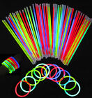 "8"" Glow Sticks Bracelets Necklaces Neon Colors Party Favors Disco Rave Rock"