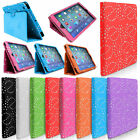 Crystal Sparkle Bling Leather Folding Folio Stand Case Cover for iPad & Tablets