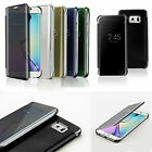 Mirror Smart View Clear Flip Hard Back Case Cover For Samsung Galaxy S6 S6 EDGE+