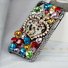 For Mobile Phone Sparkly Crystals Rhinestones Bling Luxury Crown Hard Cover Case