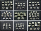 Tibetan Silver Carved Flower Bead Caps Metal Findings Jewelry Design 6mm - 10mm