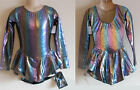 NWT 8y 10y CHILD Ice Roller Skating Dress Purple Green Gold Costume Leotard