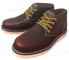 New Men's Chukka Boots Leather Wedge Tred Sole Lace Up Casual Shoes Size:6-13
