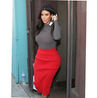 New Casual Two Piece Long Sleeve Cotton Bodycon Tops Dress Set
