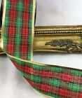 TARTAN WIRED EDGE CHRISTMAS RIBBON 63mm WIDE X 10 YARDS, 5 or 2 yards